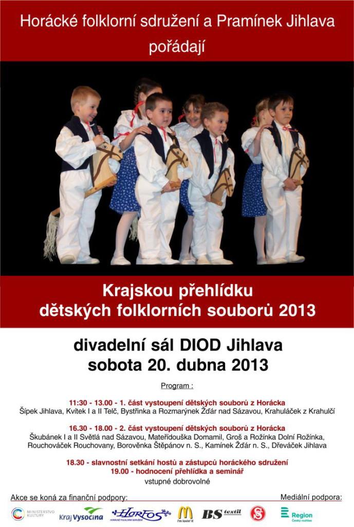 Krajská přehlídka dětských folkloních souborů a skupin 2013