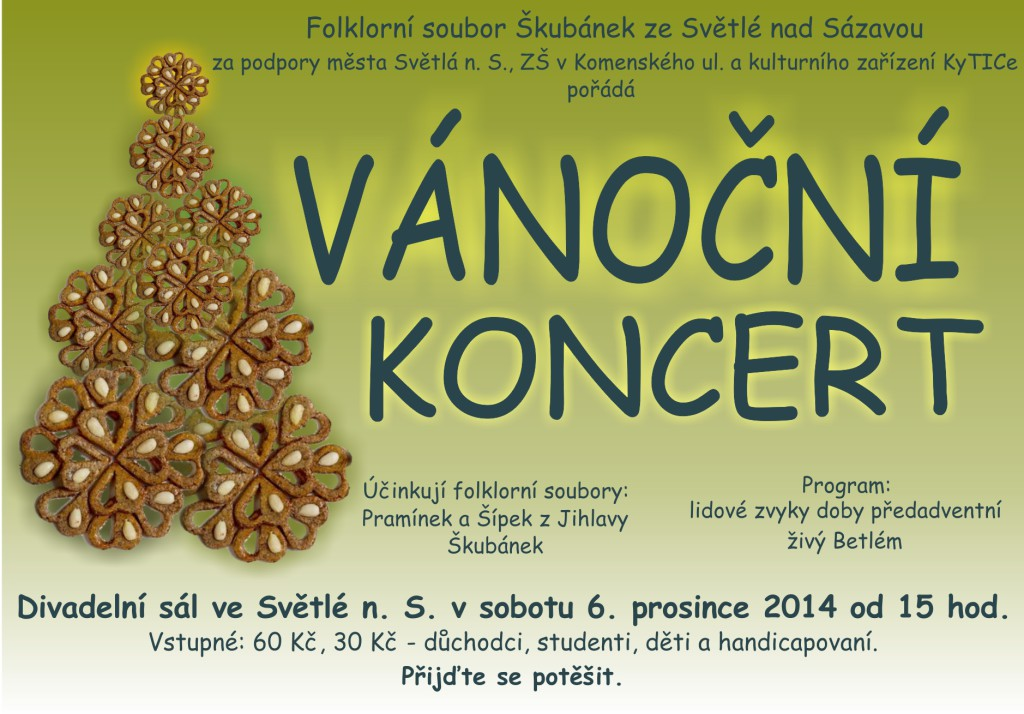 Vánoční koncert Škubánku 2014