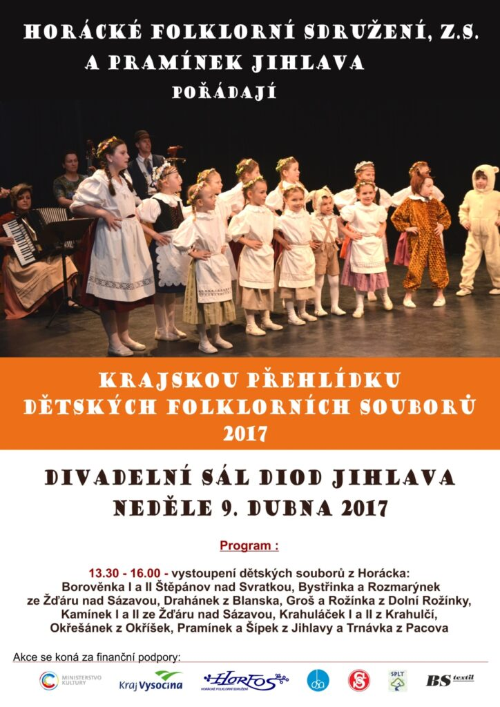 Přehlídka dětských folklorních souborů 2017 - Horácko