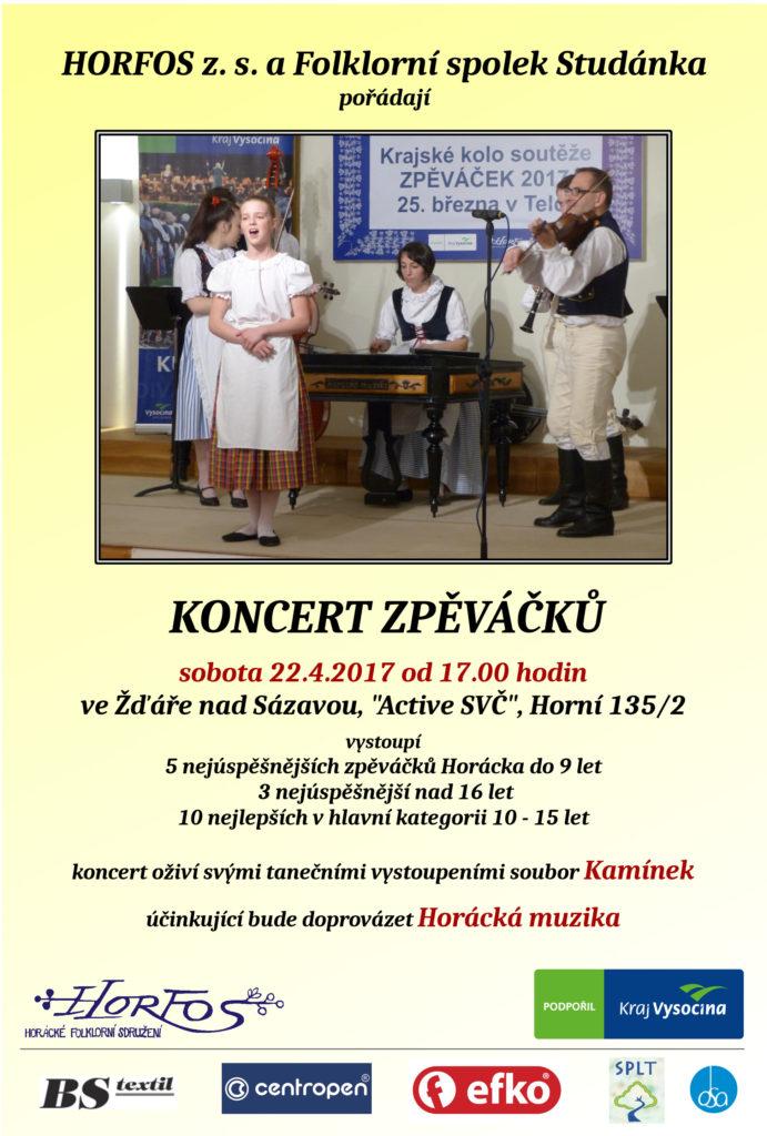 Koncert vítězů soutěže Zpěváček 2017 - Horácko