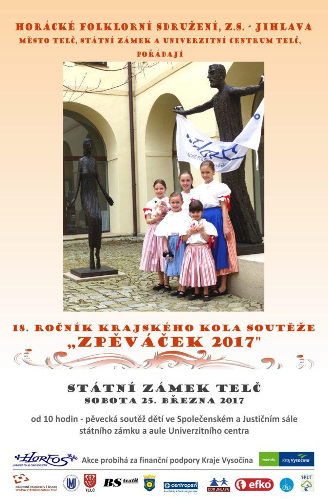 Zpěváček 2017, Horácko