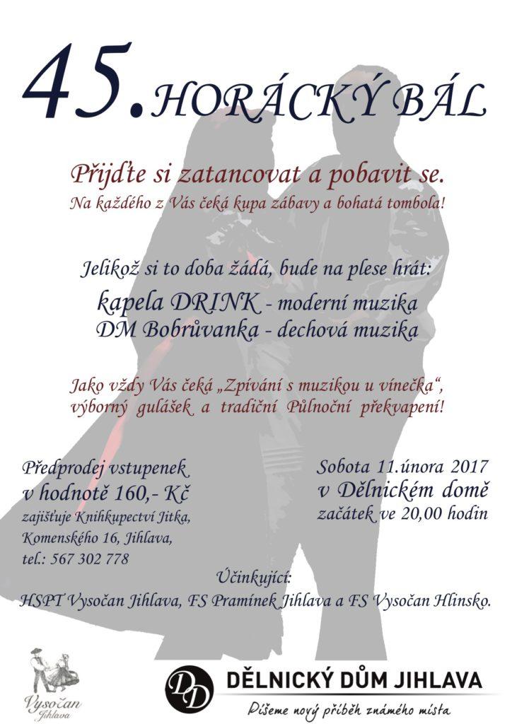 Horácký bál 2017 - Plakát