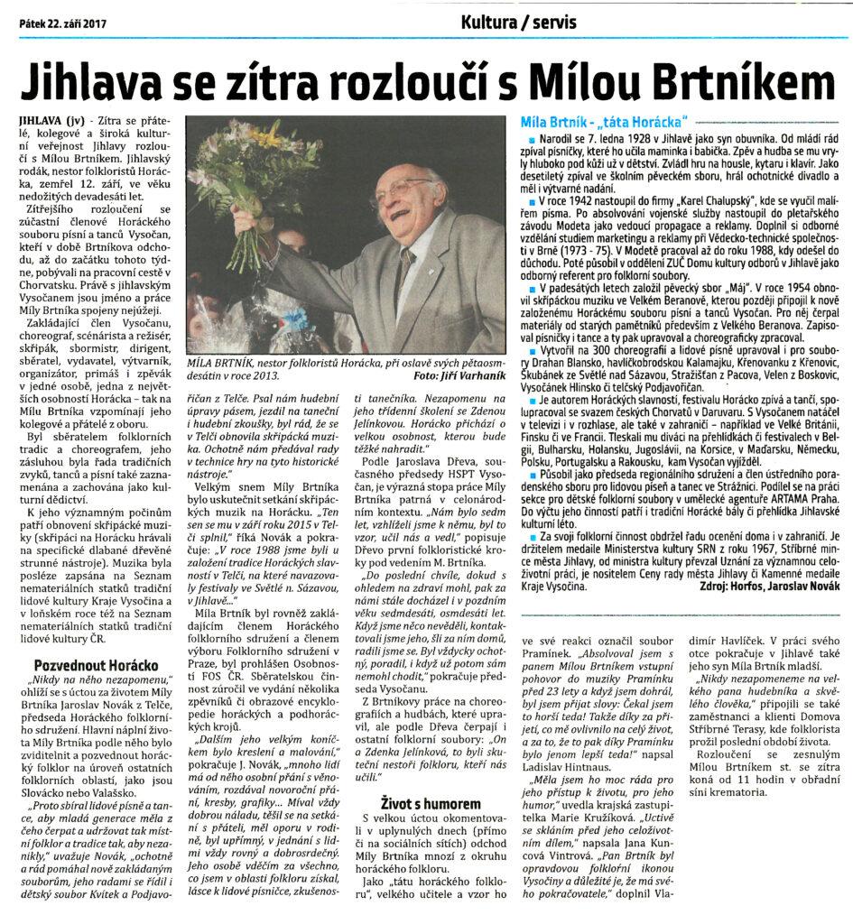 Medailonek Míly Brtníka