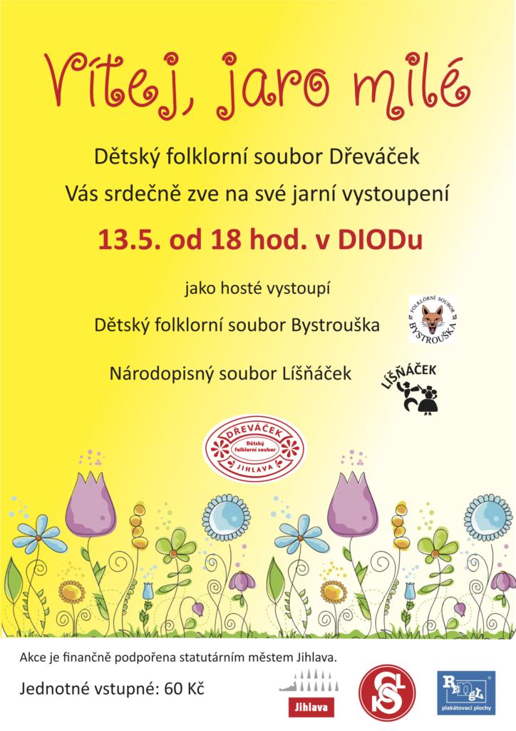 Vítej, jaro milé - Vystoupení souboru Dřeváček Jihlava 2018